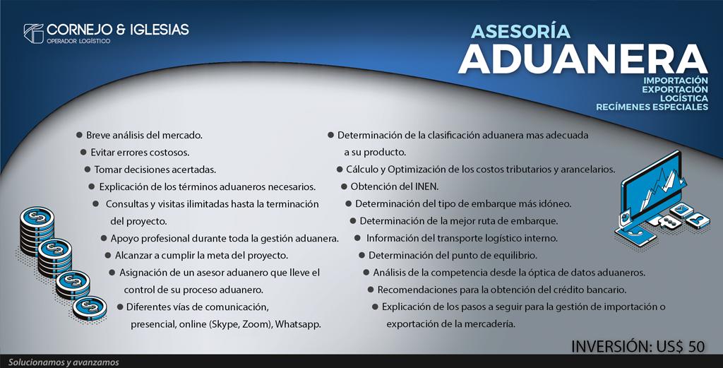Asesoría Para Importacion Exportación Y Regímenes Especiales Cornejo Iglesias